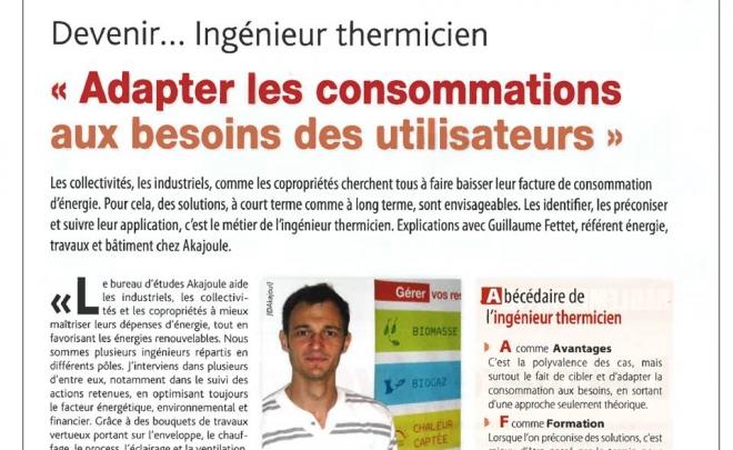 Dans la presse… le métier d'Ingénieur Thermicien chez Akajoule